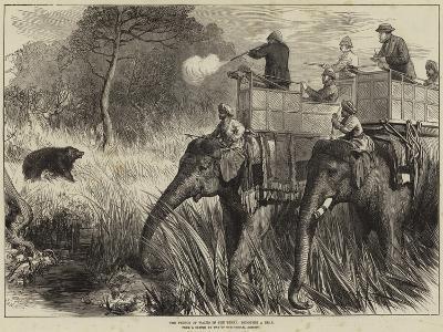 The Prince of Wales in the Terai, Shooting a Bear-Arthur Hopkins-Giclee Print