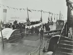 The Prince of Wales Inaugurating the London Steamboat Service, River Thames, London, 1905