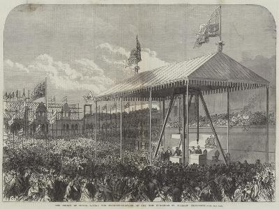 The Prince of Wales Laying the Foundation-Stone of the New Buildings of Glasgow University-Charles Robinson-Giclee Print