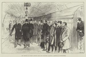 The Prince of Wales Opening the New Electric Railway, Arrival at Stockwell