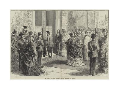 The Prince of Wales Opening the New Townhall at Bolton--Giclee Print
