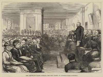 The Prince of Wales Opening the New Wards of Charing-Cross Hospital--Giclee Print