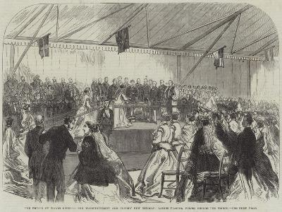 The Prince of Wales Opening the Warehousemen and Clerks' New Schools--Giclee Print
