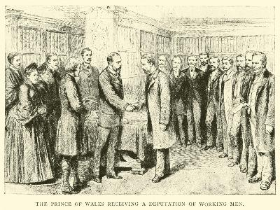 The Prince of Wales Receiving a Deputation of Working Men--Giclee Print