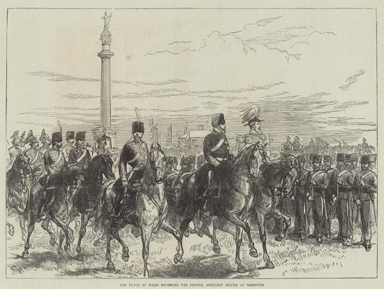 The Prince of Wales Reviewing the Norfolk Artillery Militia at Yarmouth-Charles Robinson-Giclee Print
