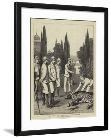 The Prince of Wales's First Tiger, Jeypore-Joseph Nash-Framed Giclee Print