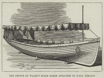 The Prince of Wales's State Barge Attached to HMS Serapis--Giclee Print
