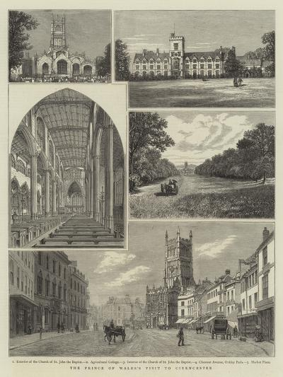 The Prince of Wales's Visit to Cirencester--Giclee Print