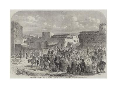 The Prince of Wales's Visit to the East, Arrival of His Royal Highness at Beyrout--Giclee Print