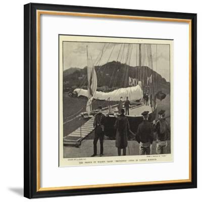 The Prince of Wales's Yacht Britannia Lying in Cannes Harbour-Joseph Nash-Framed Giclee Print