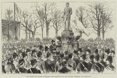 The Prince of Wales Unveiling the Memorial to the Prince Imperial at Woolwich--Giclee Print