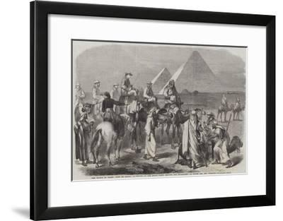 The Prince of Wales' Visit to Egypt--Framed Giclee Print
