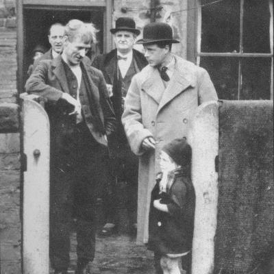 The Prince of Wales visiting a miners cottage in the Northeast of England, 1929 (1936)--Photographic Print