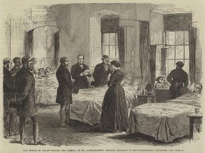 The Prince of Wales Visiting the Persons at St Bartholomew's Hospital Wounded by the Clerkenwell Ex--Giclee Print