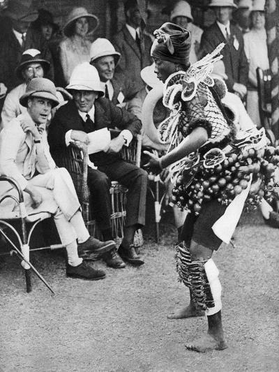 The Prince of Wales Watching a Traditional Dance, Freetown, Sierra Leone, 1925--Giclee Print