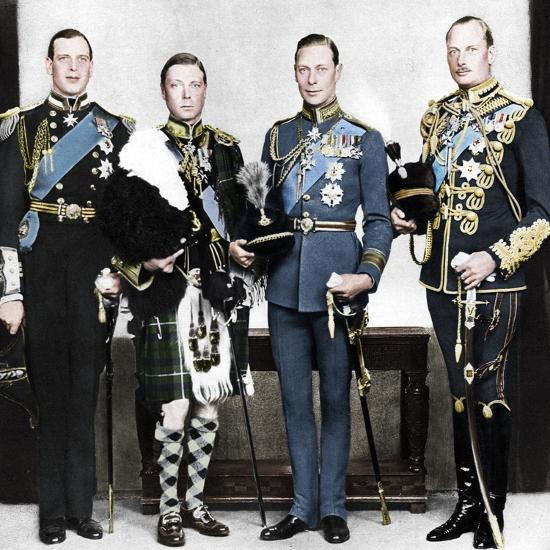 The Prince of Wales with his brothers, c1930s-Unknown-Photographic Print
