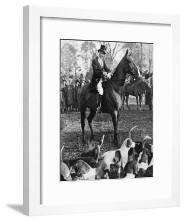 The Prince of Wales with the Beaufort Hunt, 1923--Framed Giclee Print