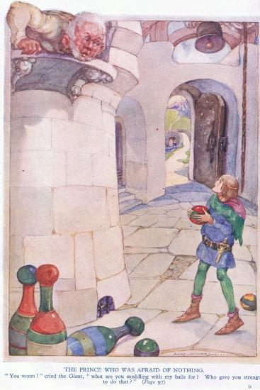 The Prince Who Was Afraid of Nothing-Anne Anderson-Giclee Print