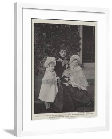 The Princess of Wales and Her Grandchildren--Framed Giclee Print
