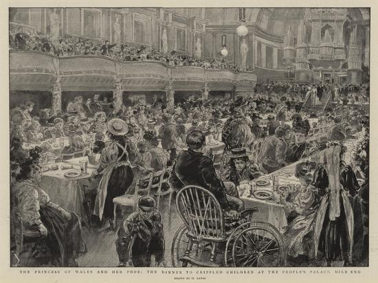 The Princess of Wales and Her Poor, the Dinner to Crippled Children at the People's Palace Mile End-Henri Lanos-Giclee Print