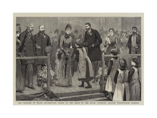The Princess of Wales Distributing Prizes to the Girls of the Royal Patriotic Asylum--Giclee Print