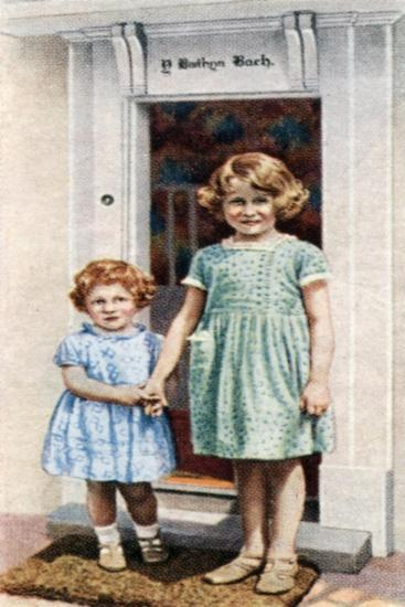 The Princesses Elizabeth and Margaret Rose at the Door of the Little House, 1933--Giclee Print