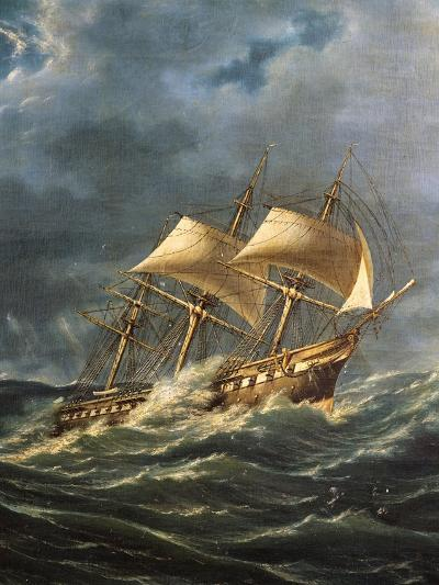 The Princie Umberto Steamship with Screw Propeller, Launched August 22, 1862, Italy, 19th Century--Giclee Print