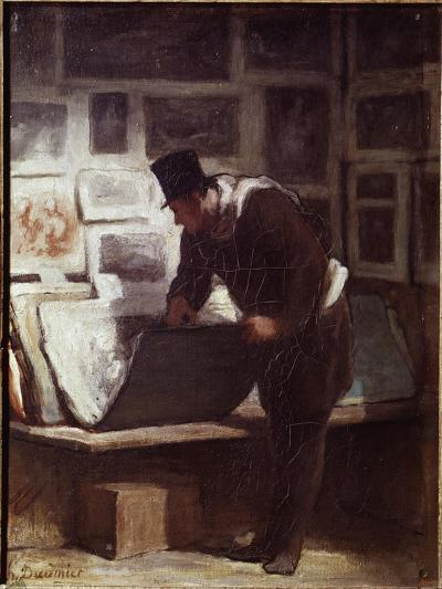 The Print Lover-Honore Daumier-Giclee Print