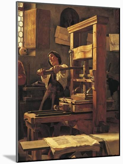 The Printer Bernardo Cennini in His Workshop, 1906-Tito Lessi-Mounted Premium Giclee Print