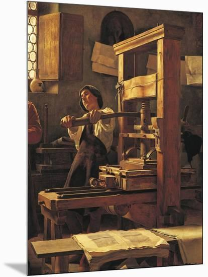 The Printer Bernardo Cennini in His Workshop, 1906-Tito Lessi-Mounted Giclee Print