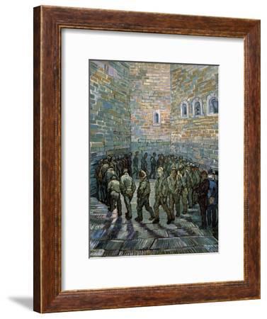 The Prison Courtyard, 1890-Vincent van Gogh-Framed Giclee Print
