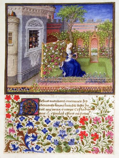 The prisoners listening to Emily singing in the garden, 1340-1341-Unknown-Giclee Print
