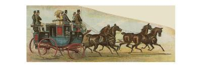 The Private Coach of Mr Oakley, a Prominent Figure in the Coaching Revival--Giclee Print