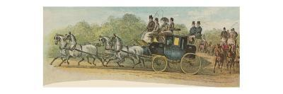 The Private Coach of Sir Thomas Peyton, a Prominent Figure in the Coaching Revival--Giclee Print