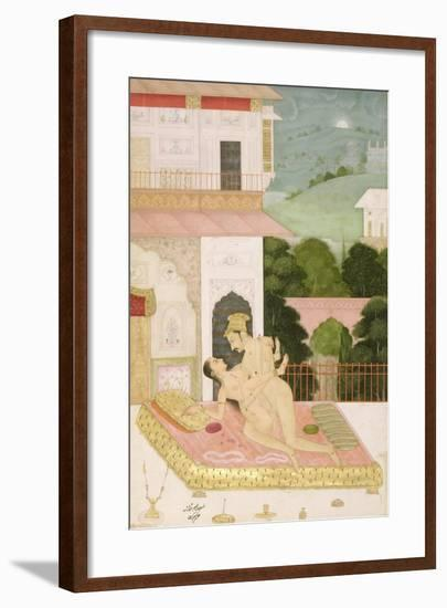 The Private Pleasure of Raja Todor Mal: the Couple Make Love on a Balcony--Framed Giclee Print