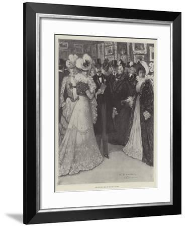 The Private View at the New Gallery--Framed Giclee Print
