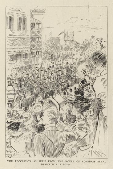 The Procession as Seen from the House of Commons Stand-Alexander Stuart Boyd-Giclee Print