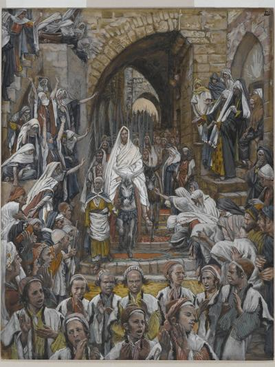 The Procession in the Streets of Jerusalem-James Tissot-Giclee Print