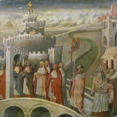 The Procession of St. Gregory at the Mausoleum of Hadrian (Castel Sant'Angelo) in Rome-Paolo Veronese-Giclee Print