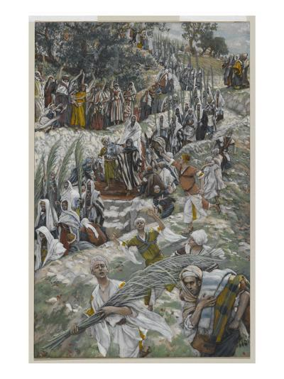 The Procession on the Mount of Olives-James Tissot-Giclee Print