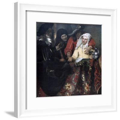 The Procuress, 1656-Johannes Vermeer-Framed Giclee Print