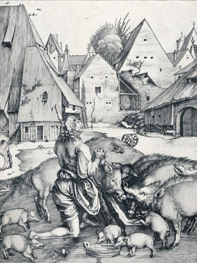 The Prodigal Son, 1495-Albrecht D?rer-Giclee Print