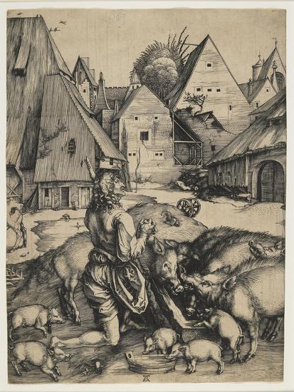 The Prodigal Son, 1496-Albrecht D?rer-Giclee Print