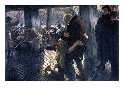 The Prodigal Son in Modern Life - the Return-James Tissot-Art Print