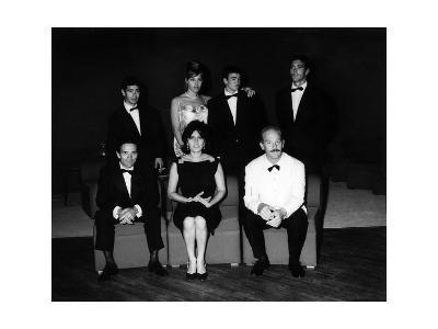 The Producer, Director, Actors and Crew of 'Mamma Roma' at the Film Festival, Venice, Sept 1962--Photographic Print