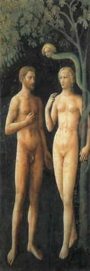 The Progenitors in Eden and the Temptation (Adam and Eve)--Giclee Print