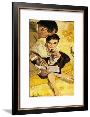 "The Progressive Approach  - Saturday Evening Post ""Leading Ladies"", December 16, 1960 pg.30-Mark Miller-Framed Giclee Print"