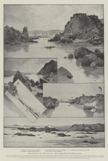 The Projected Dams across the Nile, Views of the Part of the River Affected-Charles Auguste Loye-Giclee Print