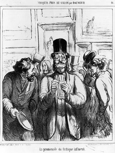 The Promenade of the Influential Critic', Cartoon from 'Charivari' Magazine, 24 June, 1865 (Litho)-Honore Daumier-Giclee Print