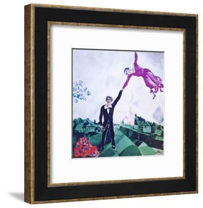The Promenade-Marc Chagall-Framed Art Print